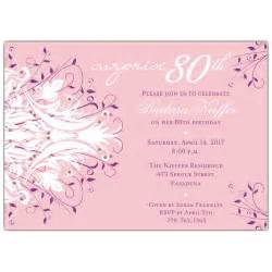 free printable invitation for 80th surprise birthday party