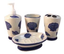 tropical bathroom sets tropical ocean sea shell vanity bathroom accessory set ebay