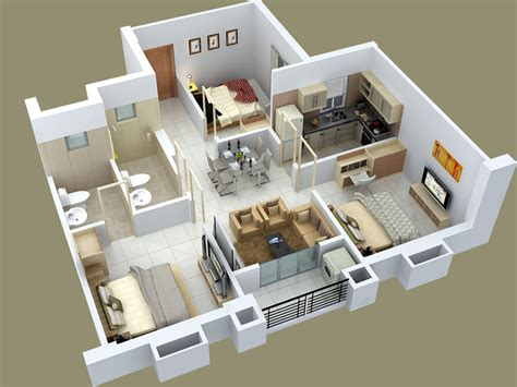 3 Bedrooms House by 25 Three Bedroom House Apartment Floor Plans