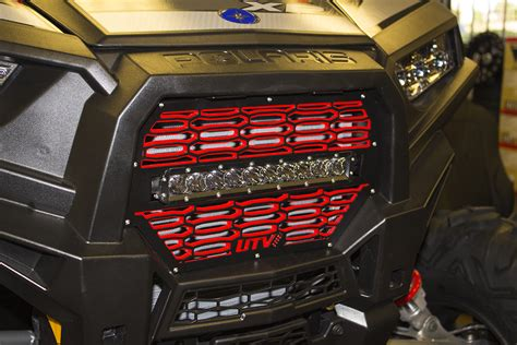 rzr 1000 light bar new product utv inc xp 1000 2 tone rigid led grill combo