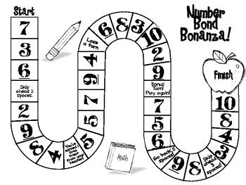 printable number board games number bonds board game by underpaid and overblessed tpt