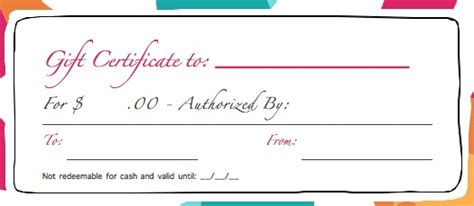 blank birthday gift certificate template uses for gift certificate templates blank certificates