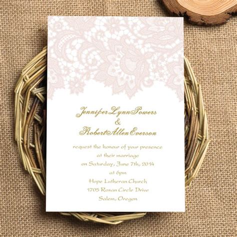Cheap Pink Wedding Invitations by Cheap Blush Pink Lace Wedding Invitations Ewi327