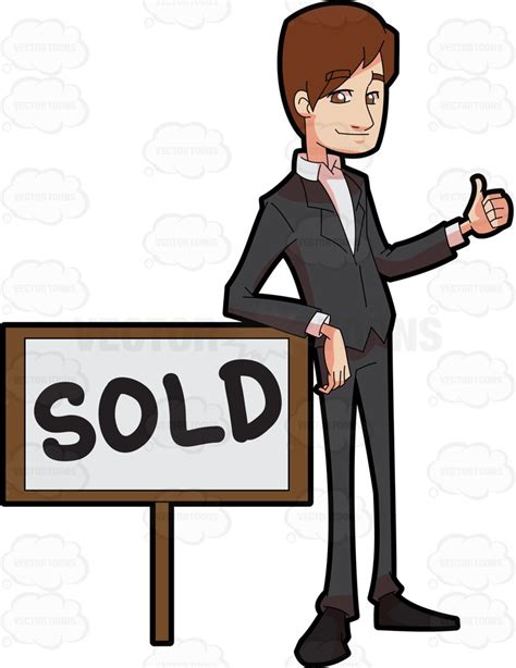 a real estate broker closing a sale deal of a