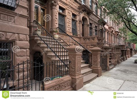 houses in new york harlem houses in new york city stock photo image 56399180
