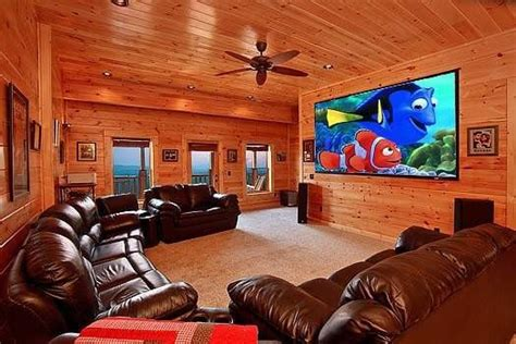 amazing pigeon forge cabin rentals  theater room