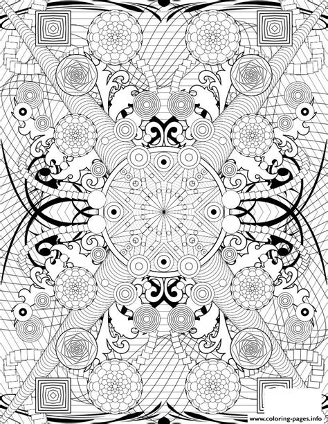 difficult pattern in c rosette intricate patterns hard adult coloring pages printable