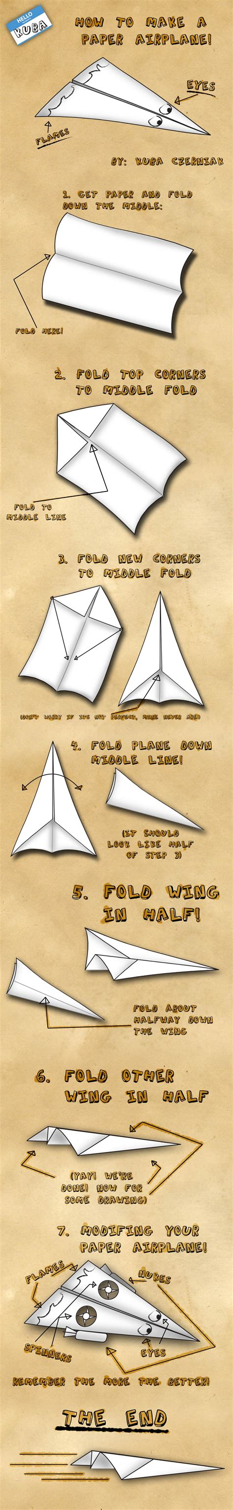 How To Make A Paper 16 - how to make a paper airplane by kubah on deviantart