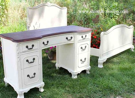 Desk Paint Ideas by Custom Color Mixing Antique Mahogany Bed In White