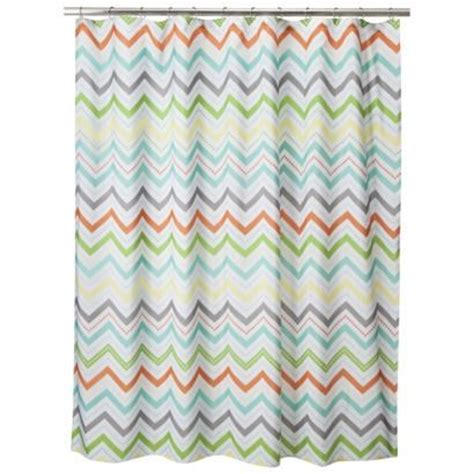 circo chevron shower curtain orange