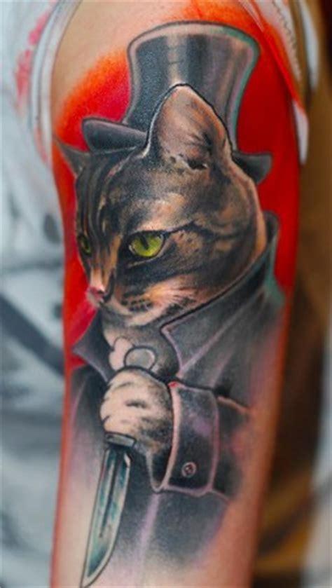tattoo new school cat off the map tattoo tattoos new school cat the rippley