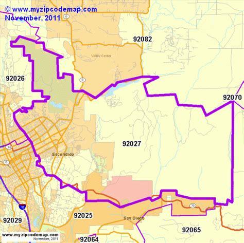 zip code map escondido ca zip code map of 92027 demographic profile residential