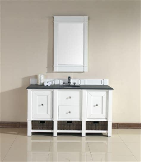 60 bathroom vanity single sink 60 inch single sink bathroom vanity in cottage white