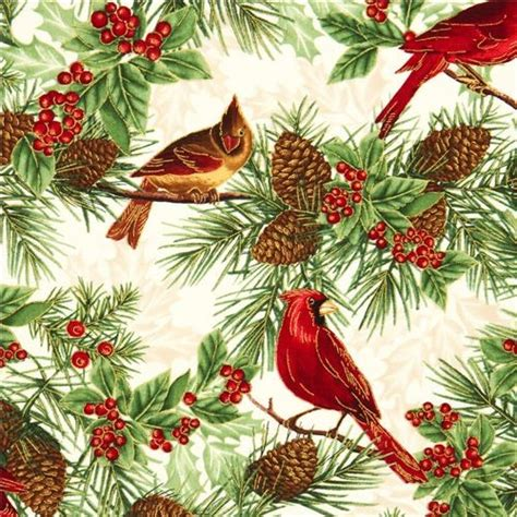 Ballard Designs Lamp Shades beige timeless treasures christmas fabric birds fir cone