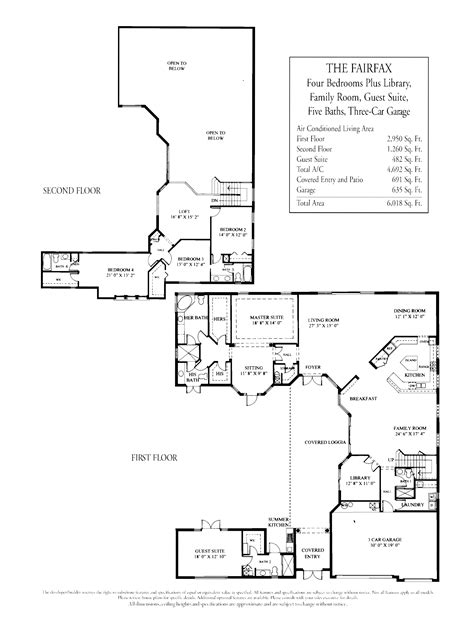 House Plans 2 Story Library House Plans Two Story House Plans With Library