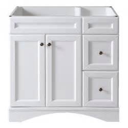 48 Sink Vanity Bathroom White Cabinets Black Knobs Cabinet Drawers Tsc