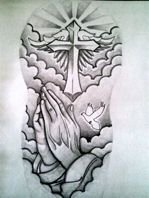 27 best cloud cross with wings tattoo images on pinterest 25 best ideas about praying hands tattoo on pinterest