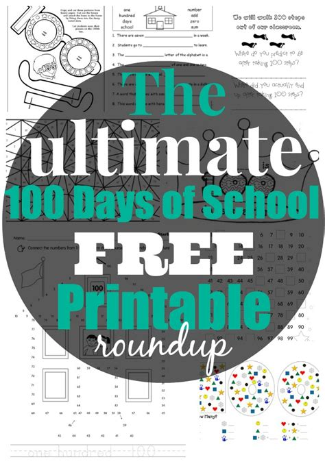 best free 100th day of printable activities and