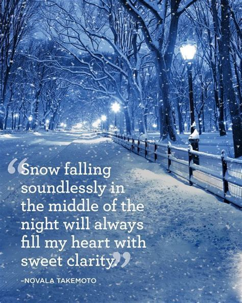 snow falling soundlessly   middle   night   fill  heart  sweet clarity