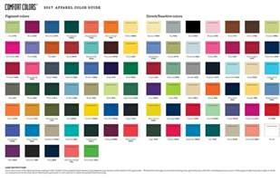 comfort color color chart custom apparel color chart cus collection inc