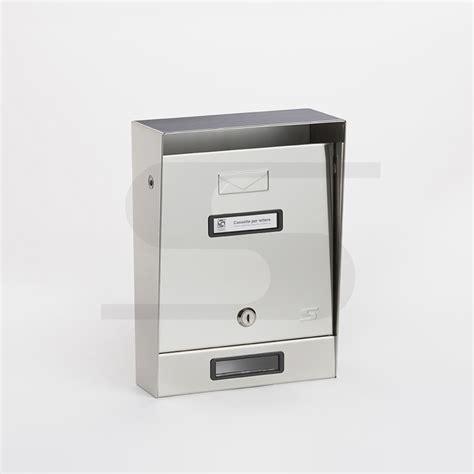cassetta postale cassetta postale singola in acciaio inox silmec