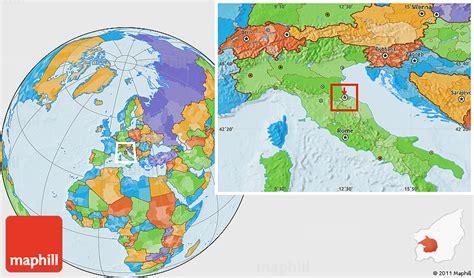 san marino on world map political location map of san marino