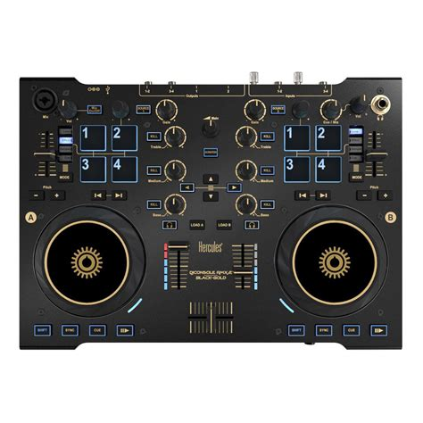 dj console hercules dj console rmx2 black gold controller at