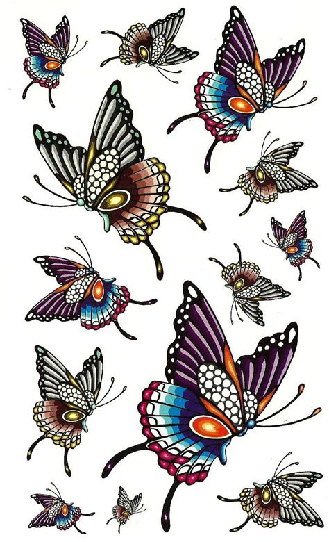 tattoo flash butterfly 5 latest colorful tattoo designs