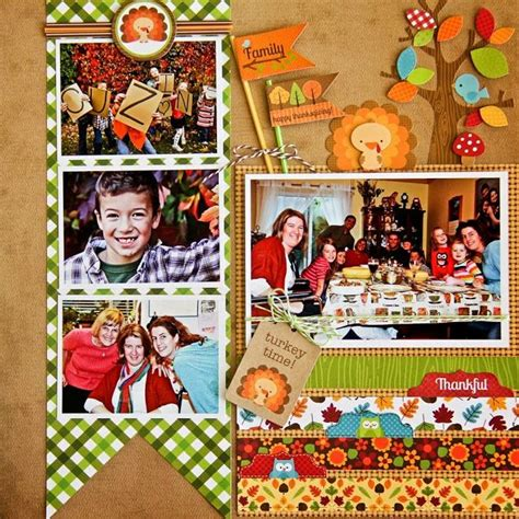 89 best images about scrapbook layouts thanksgiving on