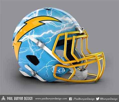 news san diego chargers all 32 nfl helmets redesigned with results