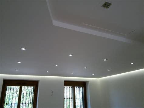 illuminazione led casa utilizzo del controsoffitto