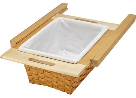 rev a shelf woven basket with rails in standard size kitchensource com rev a shelf woven basket with rails contemporary