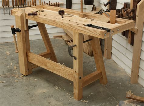 wood work bench plans built in work bench the little john workbench the