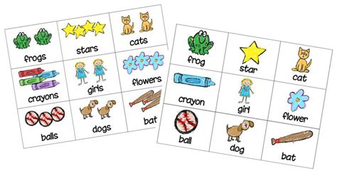 printable concentration games for kindergarten concentration matching game for singular and plural forms