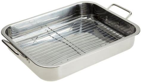 Cooking Pan Rack New Stainless Steel Heavy Duty 16 Quot Lasagna Roasting Pan W