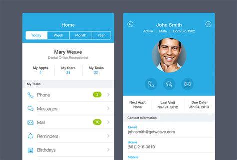 25 unique designs for mobile profile user interfaces