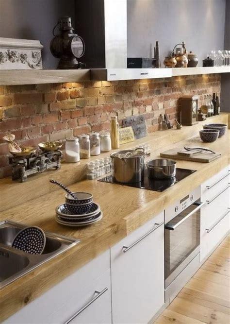 cuisine en brique cr 233 dence cuisine en 47 photos id 233 es conseils inspirations