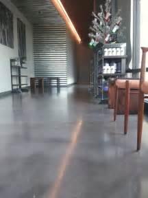 gray concrete floor studio