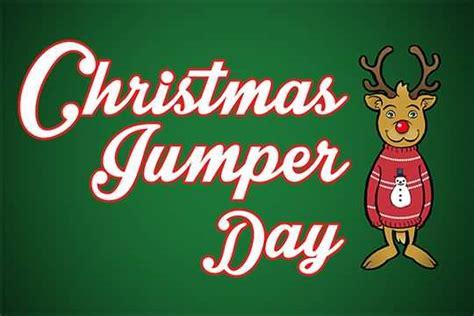 Christmas Jumper Day Reindeer Cartoon Jumper Day Template Letter