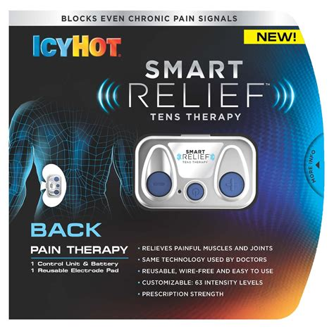 icy hot pads for your back the icy hot smart relief tens therapy unit for back pain