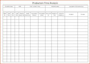Study Template by Doc 585670 Time Study Template Sle Time Study
