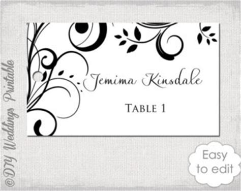 place card template mint lace wedding by diyweddingsprintable