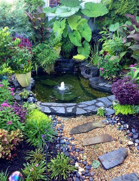 backyard pond landscaping small gardens