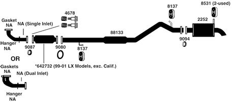 2004 Honda Accord Exhaust System Diagram