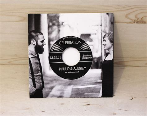 vintage record wedding invitations vinyl record wedding invitation authentic vinyl