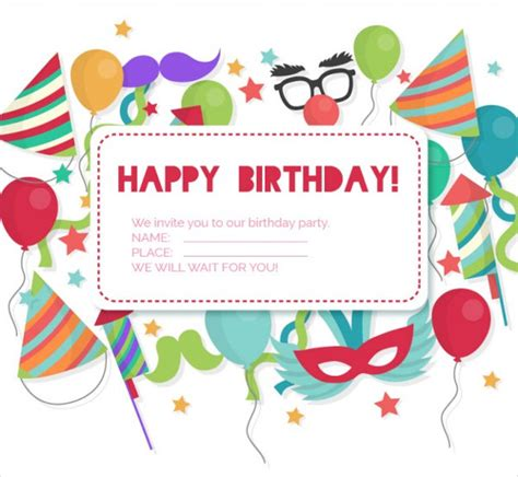 happy birthday invitation card template free 81 birthday invitations free premium templates