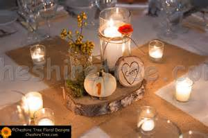 The centerpieces were a collection of mason jars candles moss and