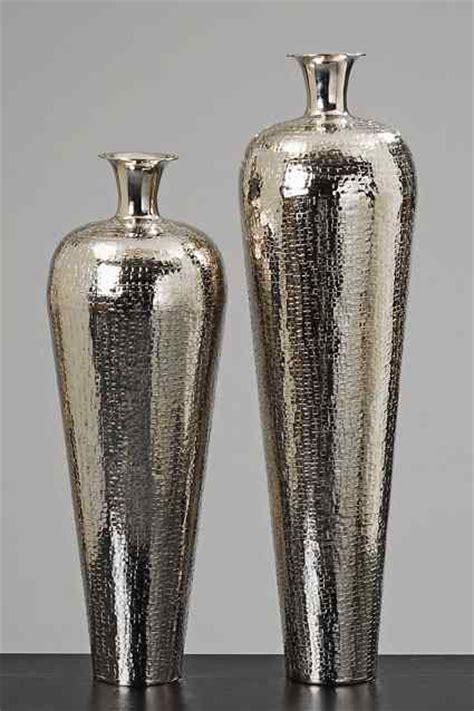 vase carrol aluminium silver flower vase floor vases