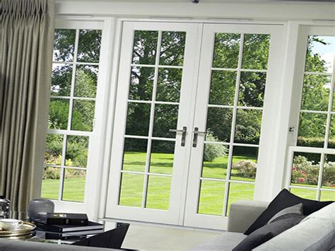 Vinyl Sliding French Rail Patio Door View Styles Interior Patio Door Styles