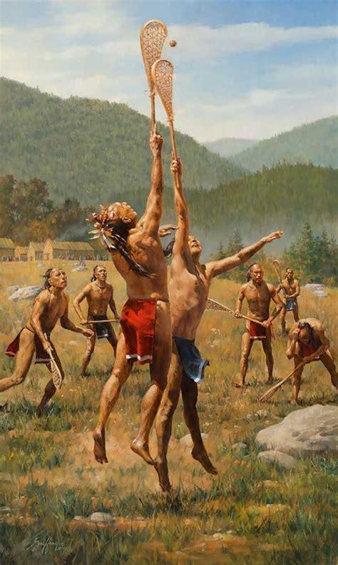 An American Play Baggataway The Iroquois Lacrosse Timothy Kestrel